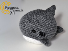 Shark amigurumi pattern crochet toy