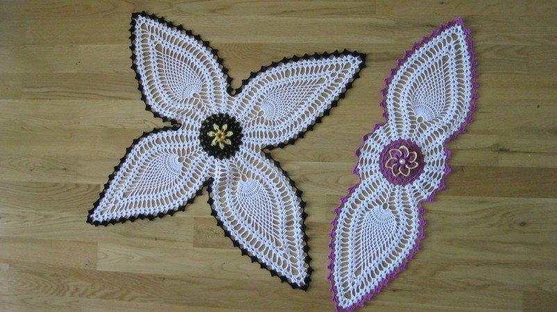 Tischdecke Häkeln Blütenform Deckchen