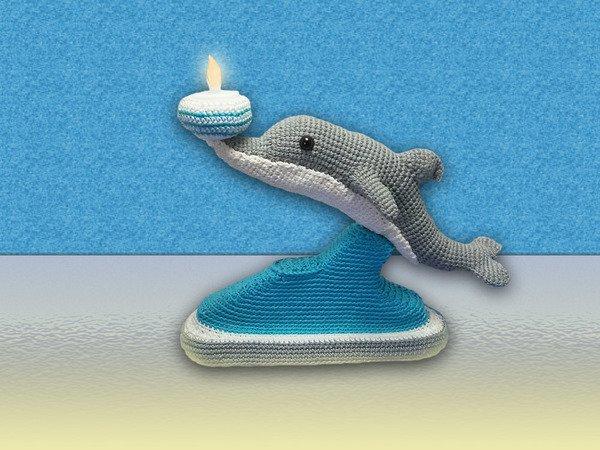 Delphin Häkeln Led Leuchte Deko Häkeln