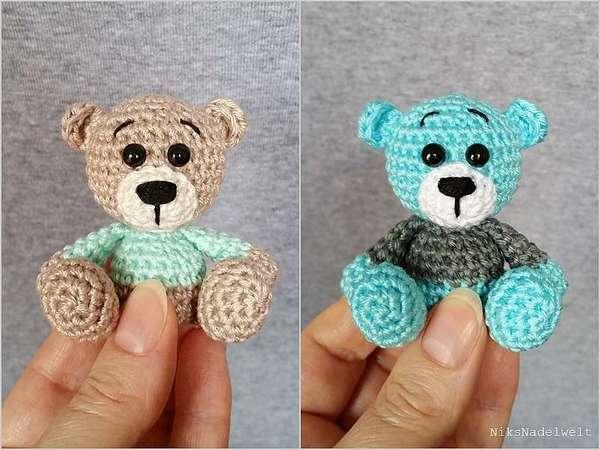 Teddy Häkeln Mini Tier Bär Häkeln