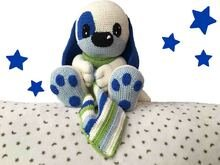 Cuddly dog Paco  Pattern Amigurumi PDF Deutsch - English