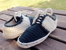 Crochet Slipper Pattern for Men/women and teens, Oxford style Shoes, Us 3-12, crochet house shoes, with video