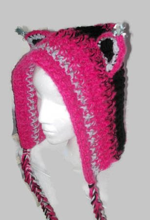 Crochet Hat Pattern, Cat Hat, Ladies Hats