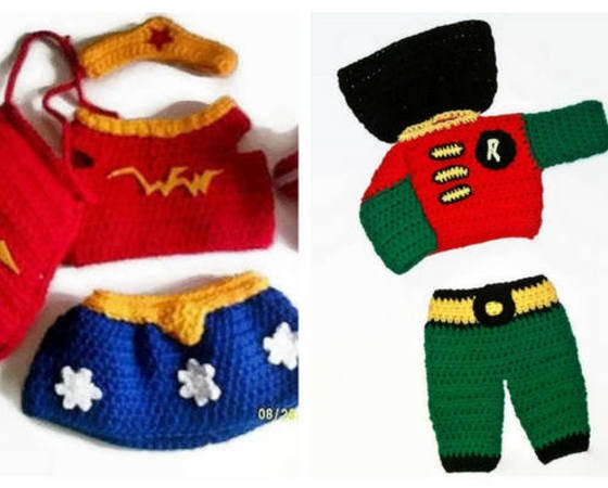 Super Hero Costumes, Baby Patterns