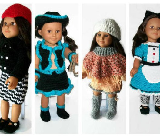 American Girl Crochet Patterns, Girl Doll clothes patterns