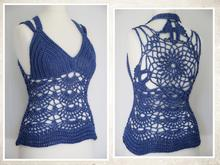 "crochet pattern top, shirt ""Jessica"", size 34-48"