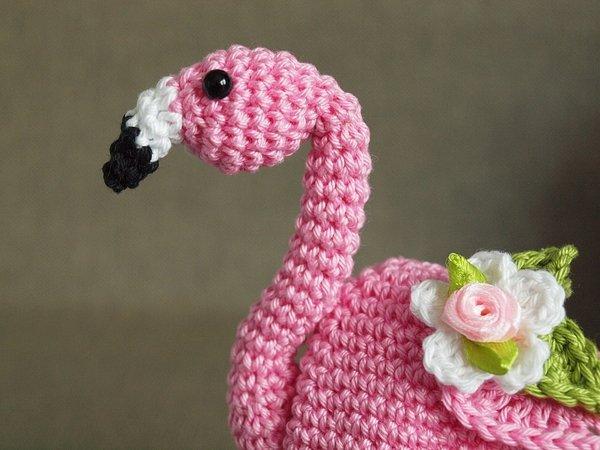 Flamingo Häkeln Eierwärmer Deko