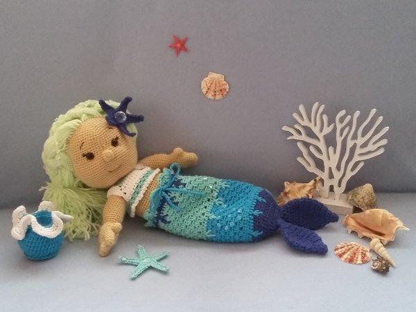 Häkelanleitung Puppe, Stella die kleine Meerjungfrau