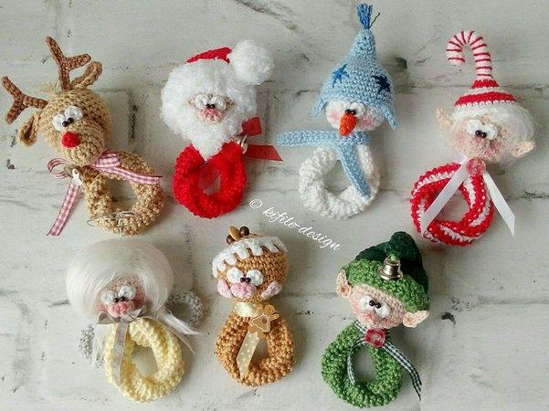 Weihnachtsdeko häkeln // Weihnachtsfiguren