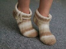 Crochet Pattern House Socks Capu