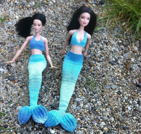 Arielle - Nixenflosse und Oberteile für Barbie Puppen