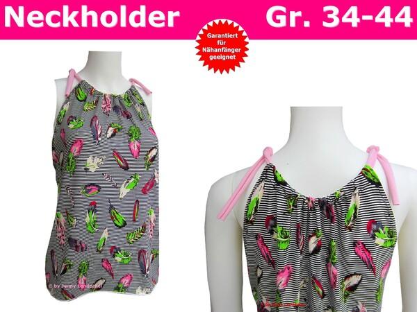 Neckholder-Shirt für Damen - Schnittmuster & Nähanleitung