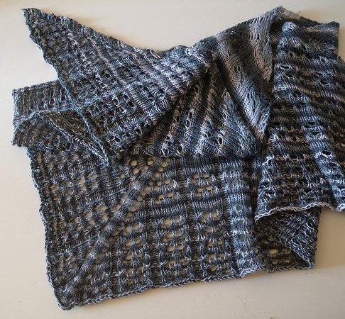 Strickanleitung Für Lace Tuch In Dreiecksform November Rain