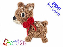 Deer (small) crochet Applique Pattern