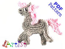 Horse crochet Applique Pattern