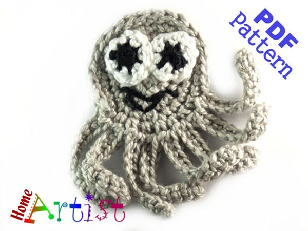 Octopus Sea Star Crochet Applique Pattern