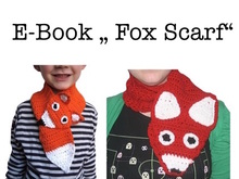 "E-Book "" Fox Scarf"" 2 sizes"