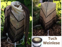 "Tuch ""Weinlese"" mit 1 Woolly Hugs BOBBEL-COTTON stricken"