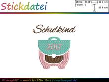 "Stickdatei ""Schulkind 2017"""