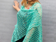 Linnea - rectangle lace shawl