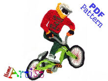 Bmx Crochet Applique Pattern