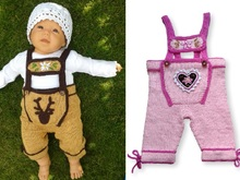 Tutorial Knitting and Crochet Baby Lederhosen, bavarian style