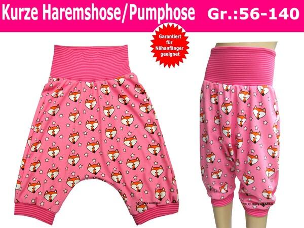 Kurze Pumphose/Haremshose \'\'Superbequem\'\' Grösse 56-140 ...