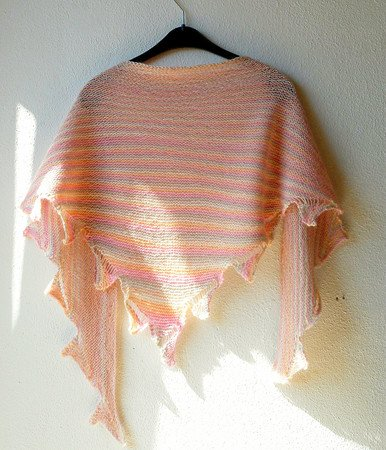 Triangle Shawl Knitting Pattern Not Another Drop Stitch Shawl
