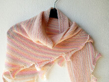"Triangle Shawl knitting pattern ""Not Another Drop Stitch Shawl"""