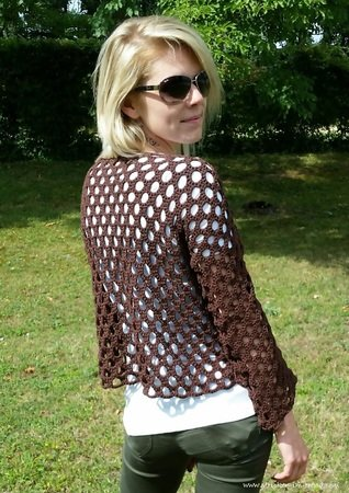 Crochet Pattern for summer sweater / sweater | HOLEinALL