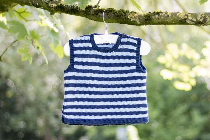 Pullunder für Baby und Kleinkind stricken (1-3 Jahre)