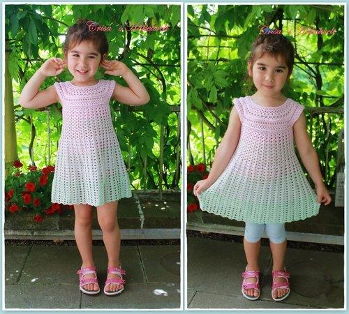 Kleid häkeln Tunika Damen und Mädchen