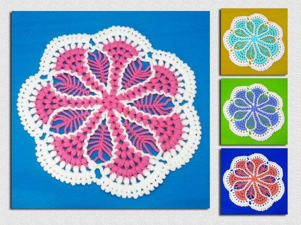 Blume Häkeln Deckchen In 3d Diy Pdf