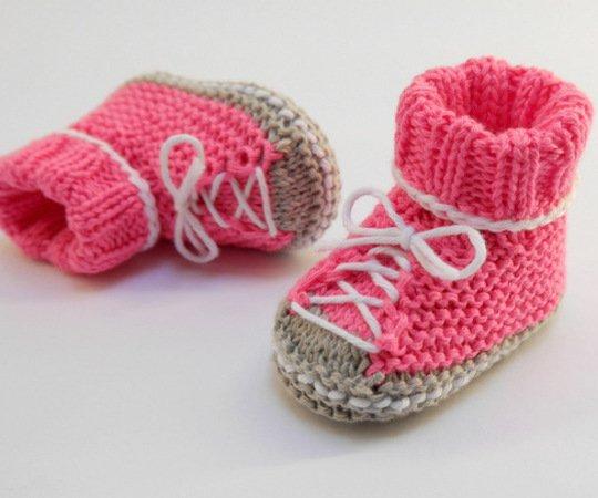 Babyschuhe Stricken Sneakers Anfänger