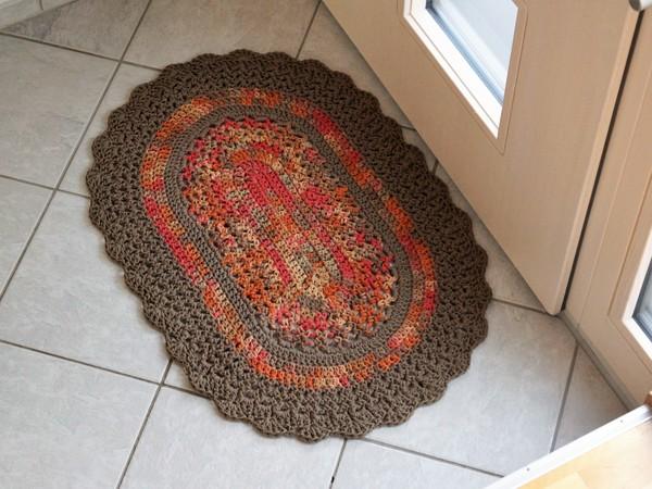 Häkelanleitung Teppich Oval