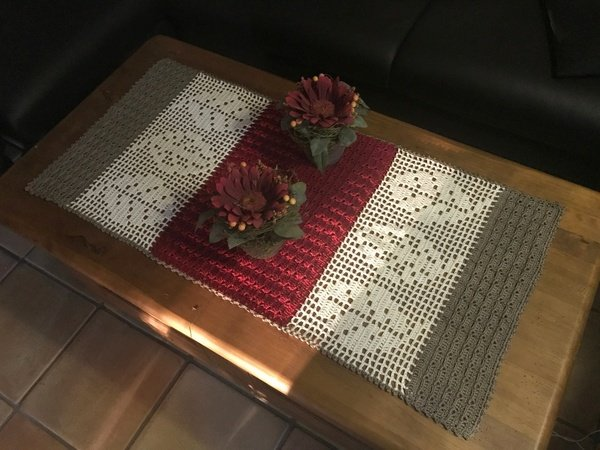 Tischläufer Häkeln Herbstdeko Häkeln Diy