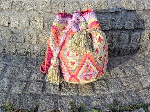 Tasche Häkeln Tapestry Mochila