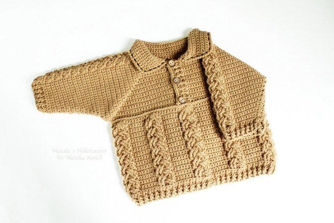 Kinderpullover Häkeln Gr 56 122