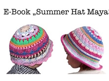 "E-Book ""Summer Hat Maya"" sizes newborn - adult"