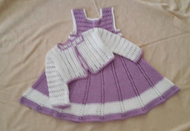 Häkelanleitung Babykleid Mit Jäckchen In 2 Größen