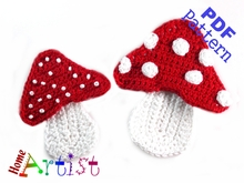 Mushrooms crochet pattern
