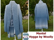 "Mantel ""Hygge by Woolly"" aus Woolly Hugs CLOUD stricken"
