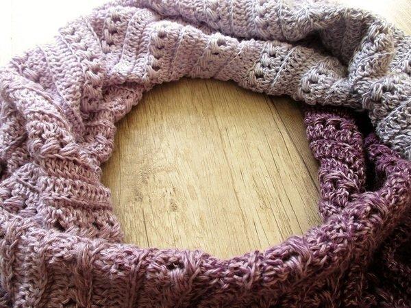 Tuchschal häkeln / asymmetrisches Tuch häkeln