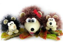 Fluffy Hedgehog family -patterns