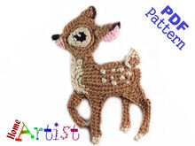 Deer Baby Crochet Applique Pattern