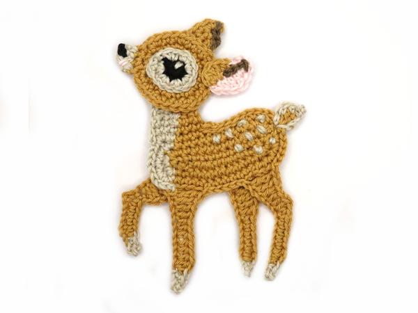Crochet bear applique set of pcs woodland animals crochet
