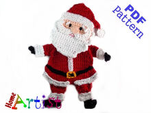 Santa Claus Crochet Applique Pattern