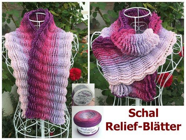Schal häkeln / Bobbel verhäkeln//Relief-Motiv
