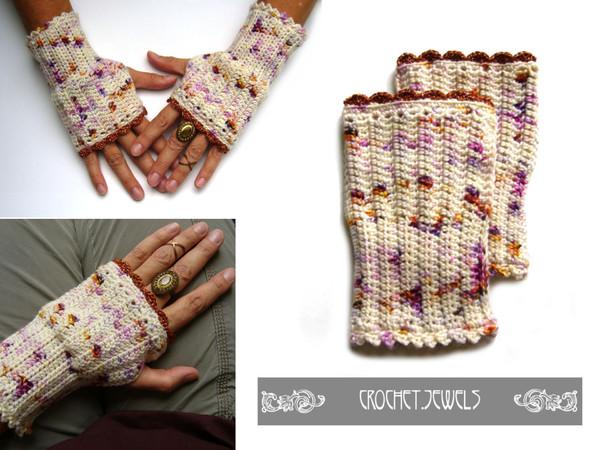 Häkelanleitung für ○ Pulswärmer ○ von crochet-jewels
