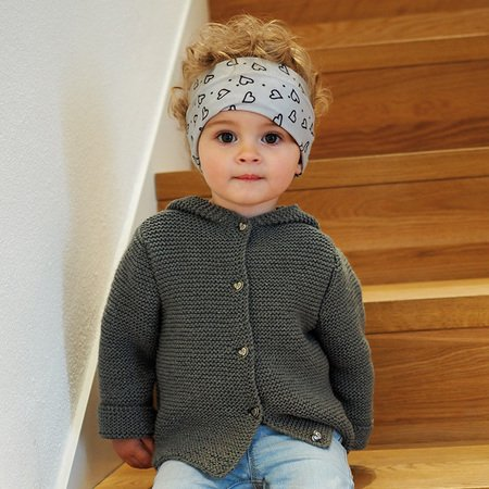 Kinderjacke stricken // Kapuzenjacke stricken
